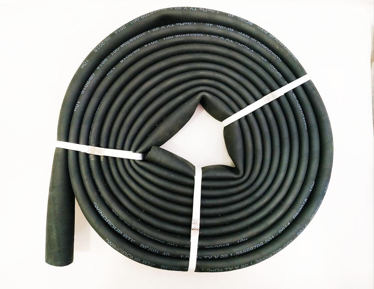 Напорный рукав дорновый Ø 40мм бинтованный  ВГ(ІІІ) техническая вода 10м. Белпромрукав