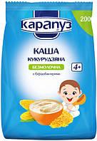 Каша безмолочная Карапуз кукурузная с бифидобактериями , 200 г(мягкая упаковка,) с 4 месяцев