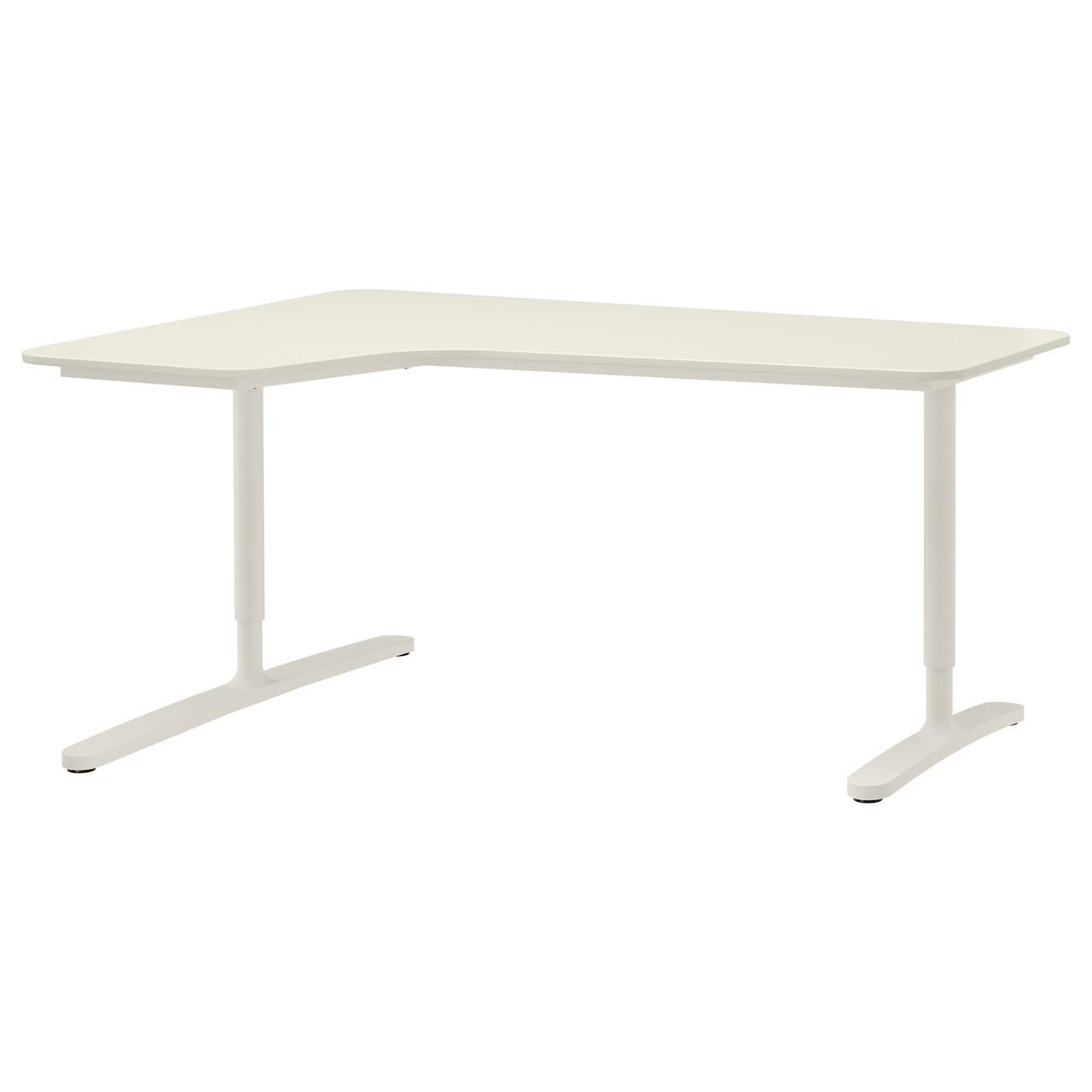 Компьютерный стол IKEA BEKANT 160x110 см угловой белый 490.064.06