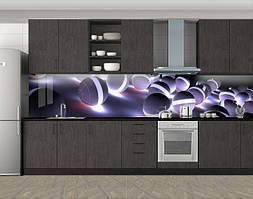 Кухонный фартук Шары, Пленка для кухонного фартука с фотопечатью, Абстракции, серый