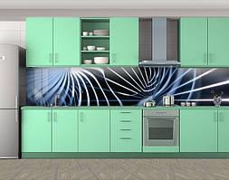 Кухонный фартук Разводы, Стеновая панель с фотопечатью, Абстракции, голубой