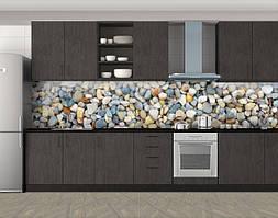 Кухонный фартук Морские камешки, Стеновая панель с фотопечатью, Текстуры, фоны, серый
