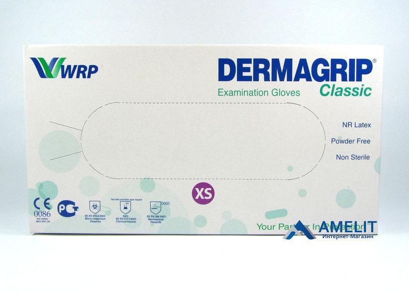 Перчатки нитриловые Дермагрип (Dermagripnitrile,WRP), синие, размер «XS»,50пар/упак.