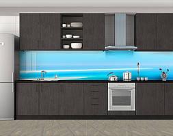 Кухонный фартук Водная гладь, Пленка для кухонного фартука с фотопечатью, Люди, голубой