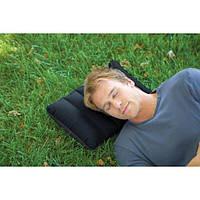Подушка надувная подголовник туристическая (ортопедическая) под шею 43x28x9см (68672)