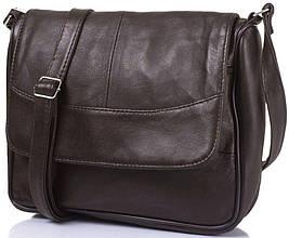 28aa34c0dcc2 Женская кожаная сумка-почтальонка TUNONA SK2416-29, коричневый