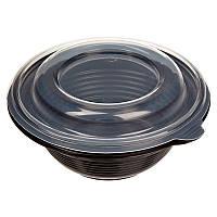 Суповая ёмкость премиум ПР МС 350 чёрная (дно+ крышка)