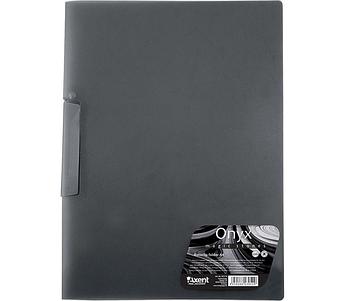 Папка с поворотным прижимом А4 Axent 1411-14-A Onyx черная