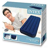 Надувной велюровый матрас Intex 68950  - Одноместный 76*191*22 см