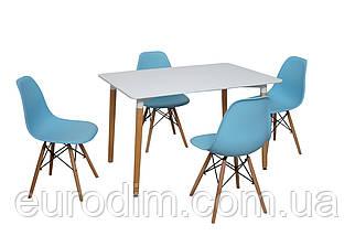 Стол NOLAN DT-9017 прямоугольный  белый 120 см, фото 3