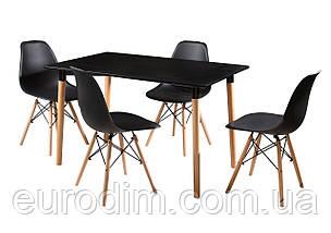 Стол NOLAN DT-9017 прямоугольный черный, фото 3
