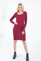 Базовое платье красного  цвета женское