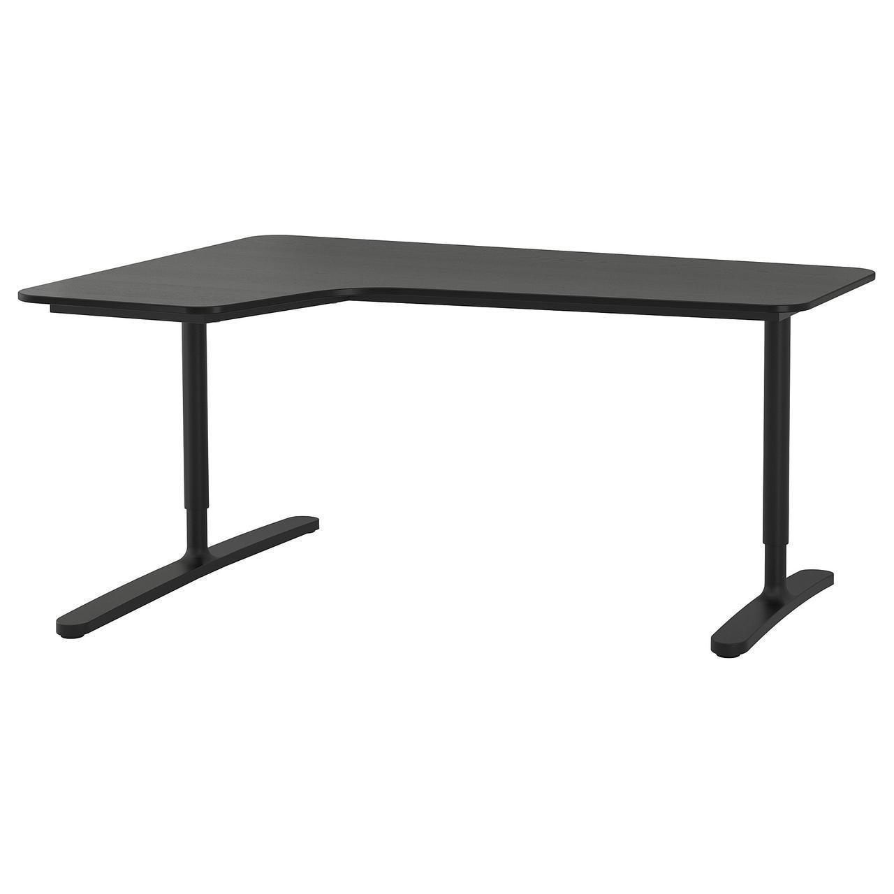 Комп'ютерний стіл IKEA BEKANT 160x110 см кутовий ясен чорний 192.828.01