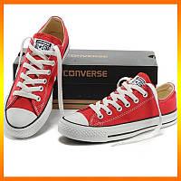 Кеды Converse Style All Star Красные низкие. Тотальная распродажа