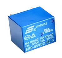 Реле SRD-5VDC-SL-C управление 5В нагрузка 250В 10А, фото 1