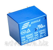 Реле SRD-5VDC-SL-C управление 5В нагрузка 250В 10А