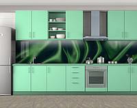 Кухонный фартук Шелковая ткань, Самоклеящаяся скинали с фотопечатью, Текстуры, фоны, зеленый