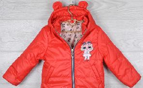 Куртка Лол, демисезонная, на девочку. На рост от 86 до 110 см, 1-5 лет. Цвет красный