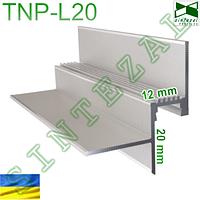 Алюминиевый LED-профиль для теневого шва шириной 12 мм.