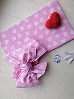 Подарочный набор Афробант с пеленкой, розовый