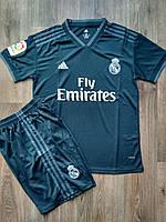 Детская футбольная форма Реал Мадрид 2018-2019 выездная черная