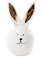 Декоративная фигурка Кролик с золотыми ушками 15 см