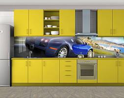 Кухонный фартук Быстрая машина, Наклейка на кухонный фартук, Транспорт, синий
