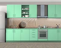 Кухонный фартук Камень и песок, Самоклеящаяся стеновая панель для кухни, Текстуры, фоны, бежевый