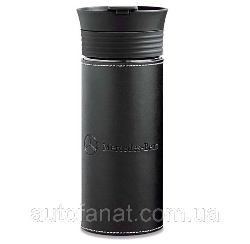 Оригинальная термокружка Mercedes Thermo Mug, Glass / Leather (B66953780)