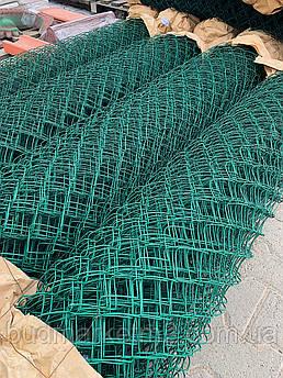 Сетка рабица ПВХ 35х35 диаметр 2,5 мм высота 1,5 м , рулон 10 м