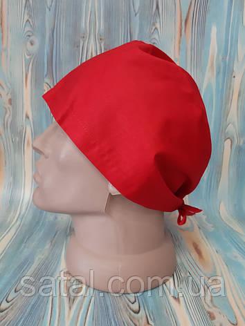 Медицинская шапочка. Красный (66). Сатал, фото 2