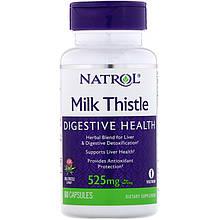 """Расторопша Natrol """"Milk Thistle"""" с комплексом растительных экстрактов, 525 мг (60 капсул)"""