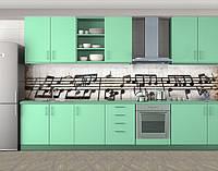 Кухонный фартук Винтажные ноты, Самоклеящаяся стеновая панель для кухни, Разное, бежевый