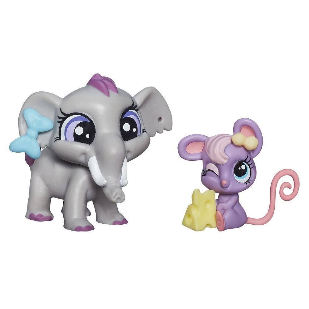 Уценка! Набор Littlest Pet Shop зверюшки Fletcher von Trunk & Teensie Fromage. Оригинал Hasbro B0101/A7313