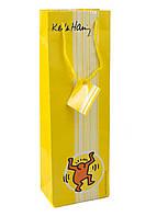 Подарочный пакет  BBS 36х12х8см Желтый, Белый, Оранжевый