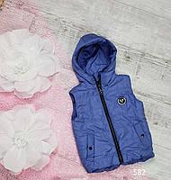 Жилетка код 582Д для девочки,размер 86-104 (2-4 лет), цвет - синий, фото 1