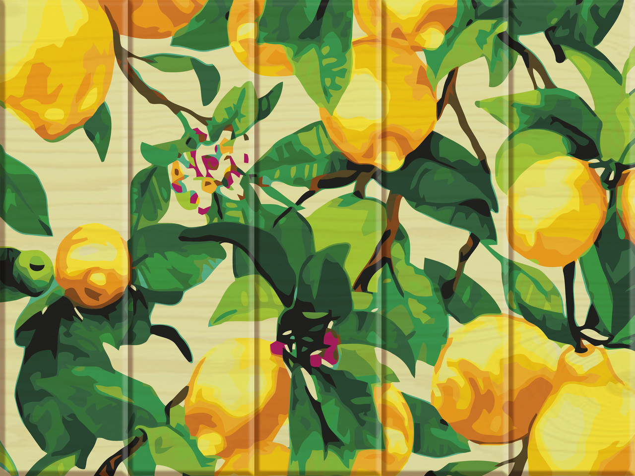 "Картина по номерам на дереве ""Лимонное дерево"" 30*40 см"