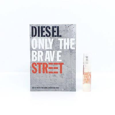 ПРОБНИК мужские духи DIESEL Only The Brave Street туалетная вода 1,2ml, свежий древесно-пряный аромат ОРИГИНАЛ