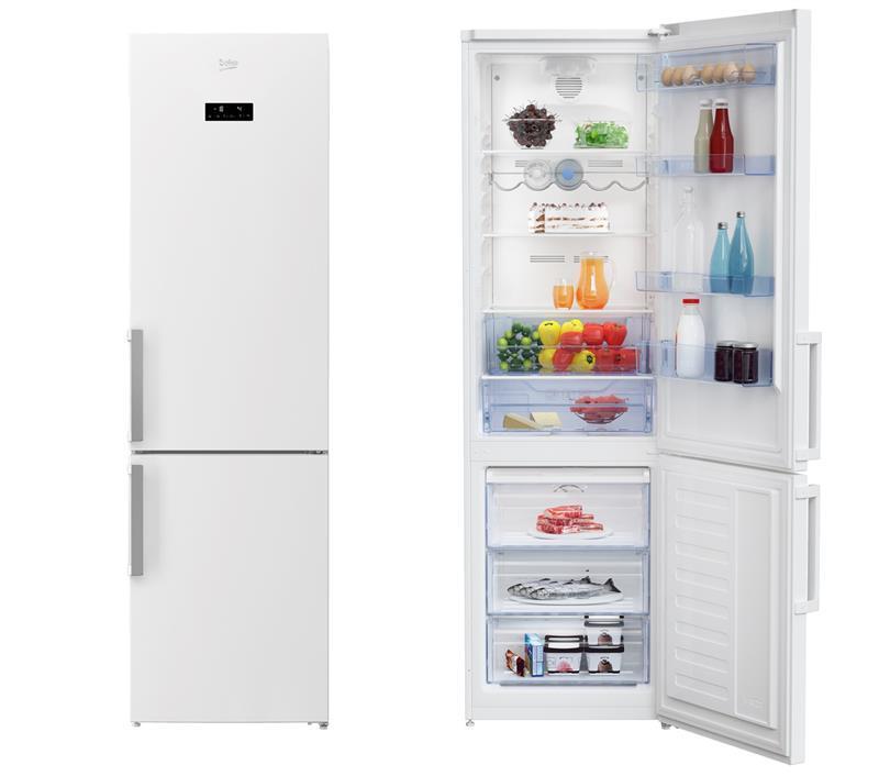 Холодильник двокамерний Beko RCNA355E21W - 201x60/No Frost/355 л/А+/дисплей/білий