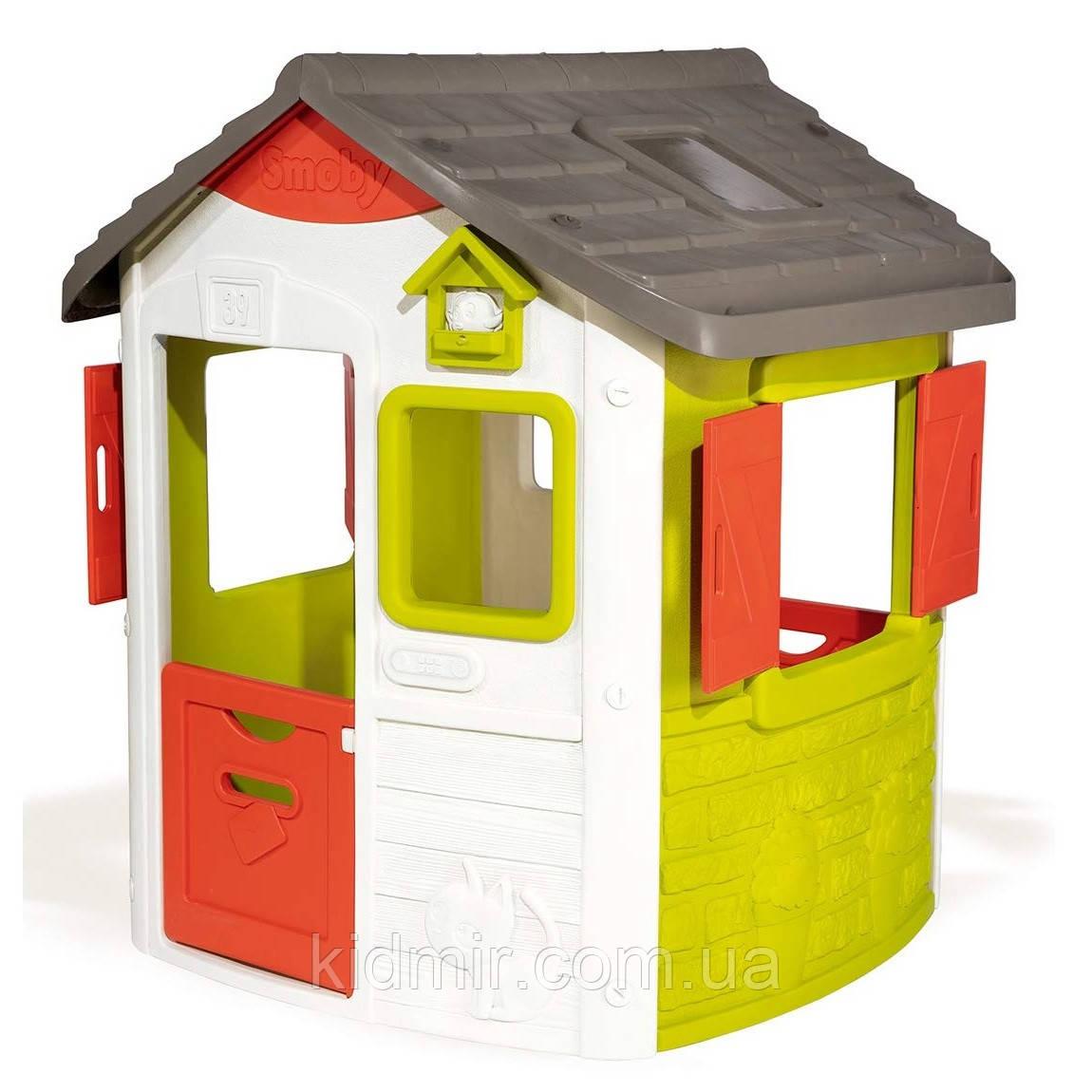 Домик садовый детский игровой со ставнями Нео Neo Jura Smoby 810500