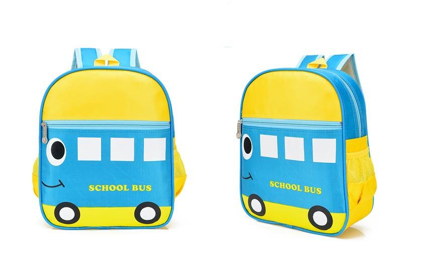 Нейлоновые детские рюкзаки с принтом Автобус