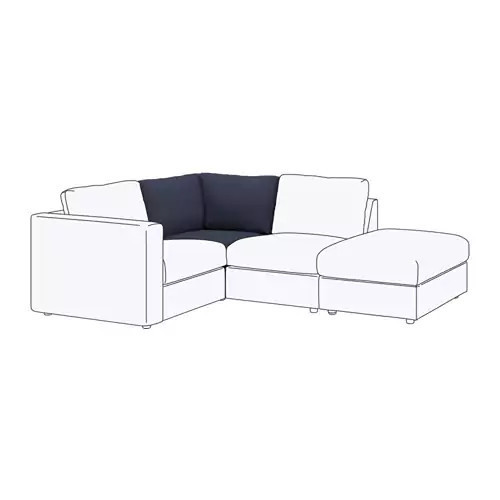 Секция угловая для модульного дивана IKEA VIMLE Orrsta темно-синий 292.200.11