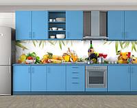 Кухонный фартук Вкусный натюрморт, Стеновая панель с фотопечатью, Еда, напитки, белый