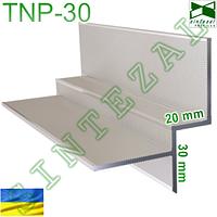 Алюминиевый профиль для создания теневого шва 20 мм.