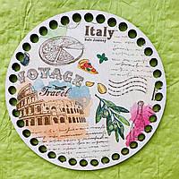 Круглое цветное дно, Италия 01 15 см