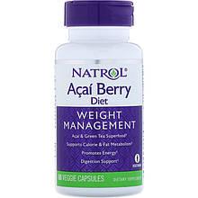 """Комплекс для контроля веса Natrol """"AcaiBerry Diet"""" ягоды асаи и зеленый чай (60 капсул)"""