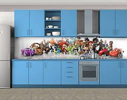 Кухонный фартук Мультяшные герои, Самоклеящаяся стеновая панель для кухни, Рисунки, белый