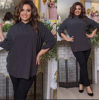 Костюм блузка з джинсами, з 52-62 розмір, фото 1