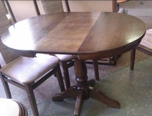 Круглый обеденный стол ЧУМАК 2 темный орех