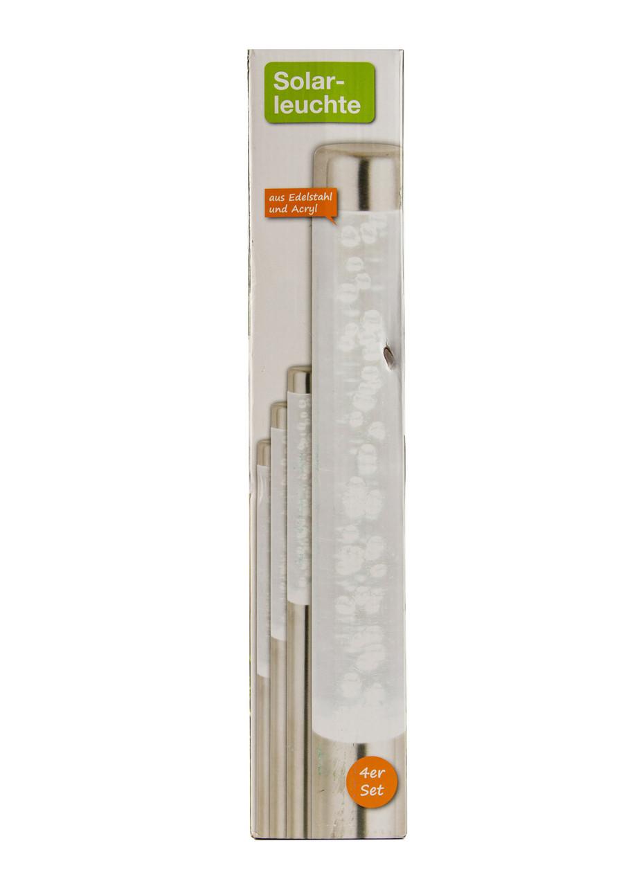 Уличный светильник (4шт) Solar-leuchte 40х2,5см Серебро, Белый